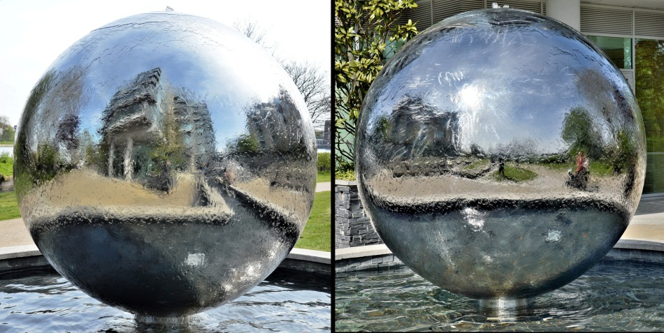 Riverside Gardens Fountain Orbs