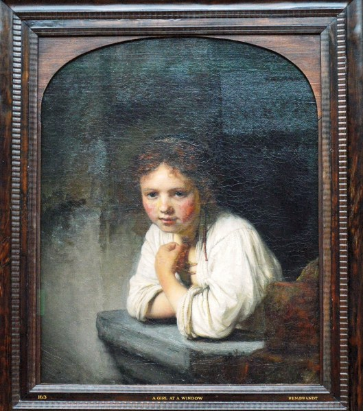 Girl at Window by Rembrandt van Rijn at the Dulwich Picture Gallery