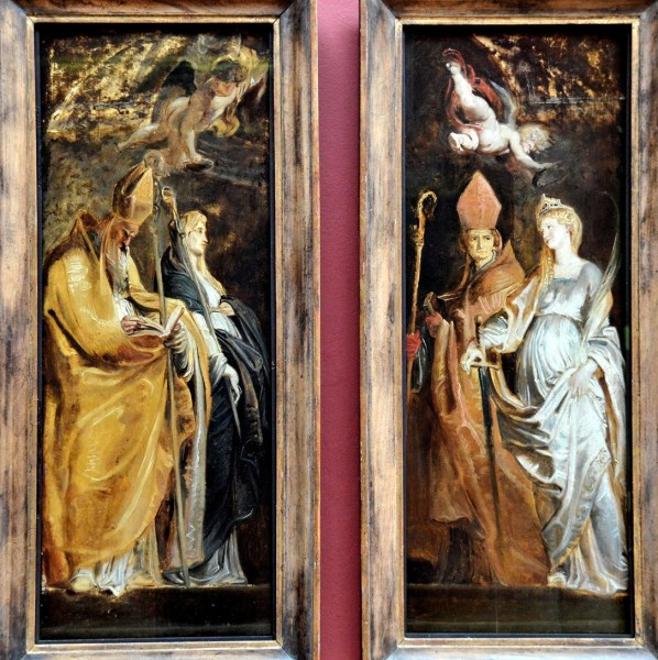 Saints Amandus and Walburga; Saints Catherine of Alexendria and Eligius by Peter Paul Rubens at the Dulwich Picture Gallery