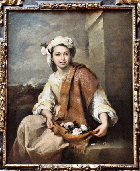 The Flower Girl by Bartolome Esteban Murillo at the Dulwich Picture Gallery