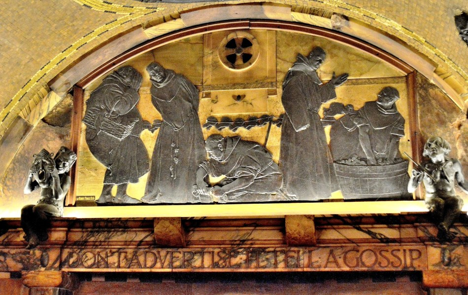 Blackfriars Pub Embossed Mural DSC_6159