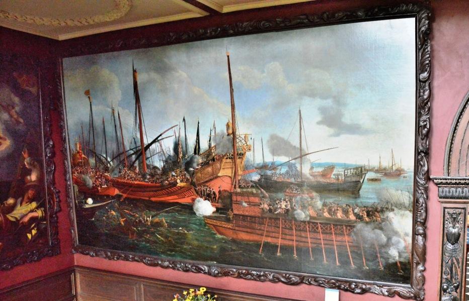 Ham House Painting of Sea Battle