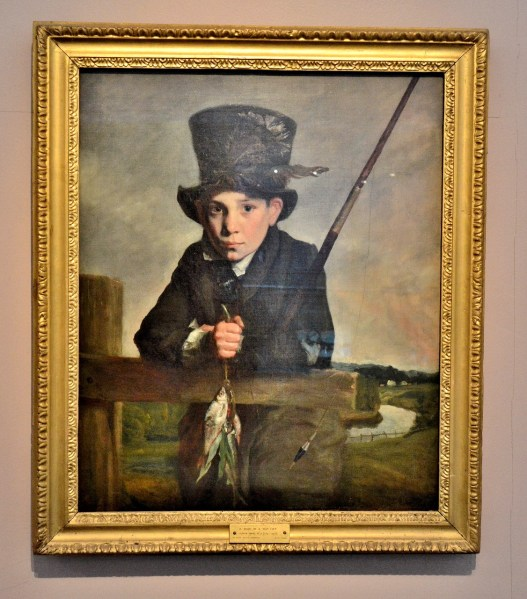 V & A Toy Museum Painting of Boy in Top Hat