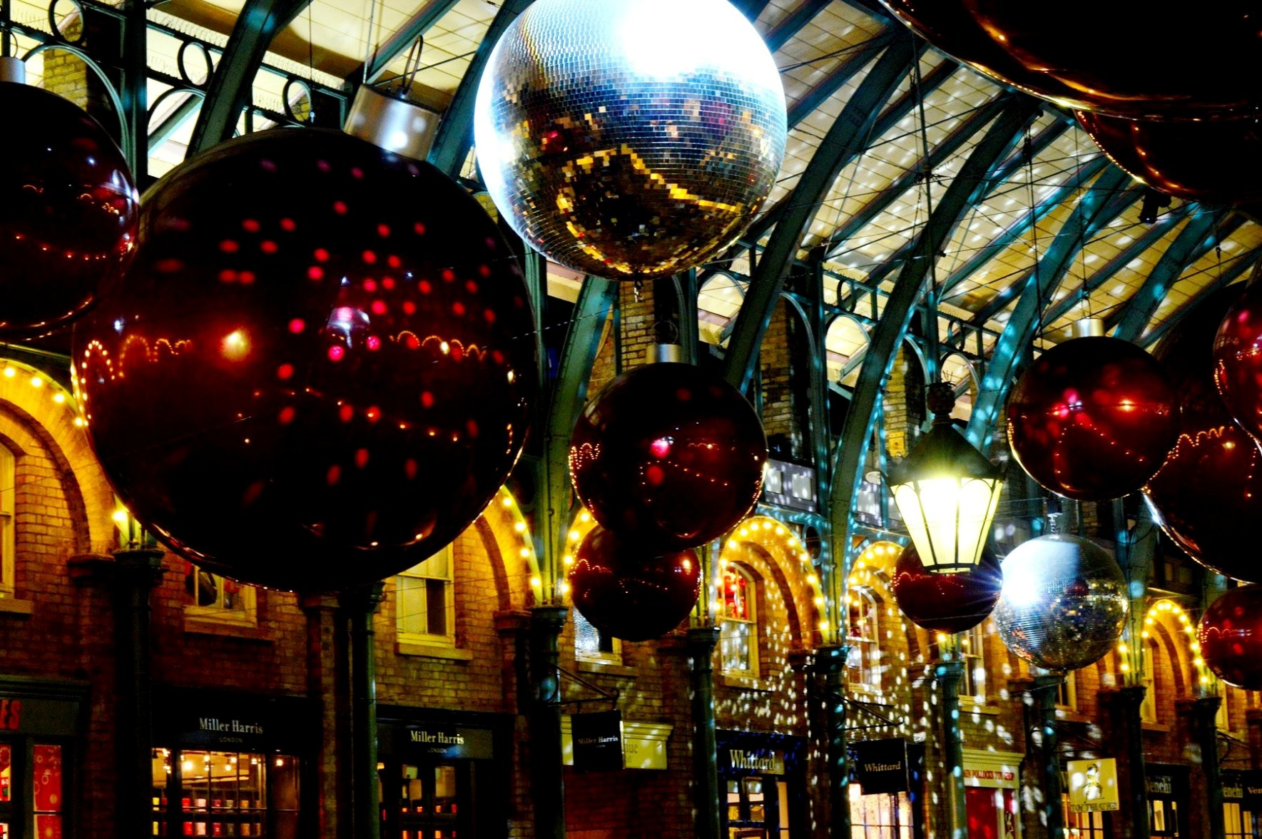 Covent Garden Xmas Decorations .