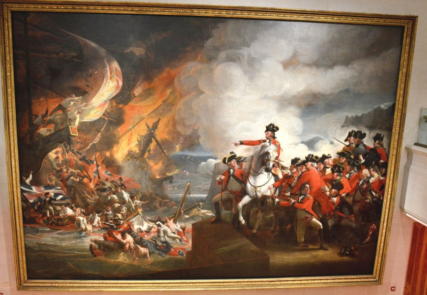 the-defeat-of-the-floatring-galleries-at-gibraltar-painted-by-john-singleton-copley-at-the-guildhall-art-gallery