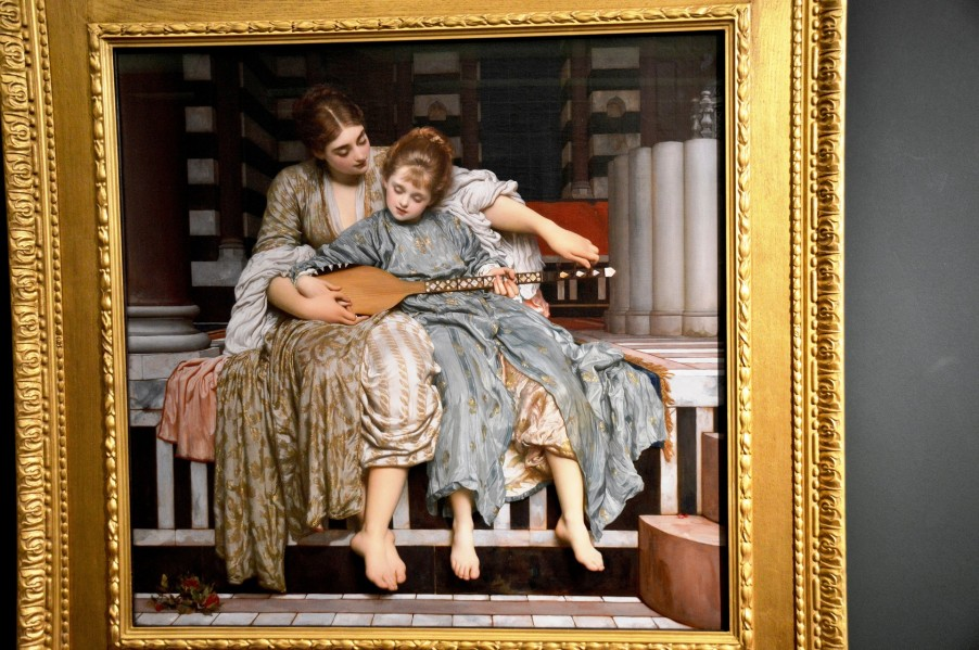 the-music-lesson-by-frederic-leighton-at-the-guildhall-art-gallery